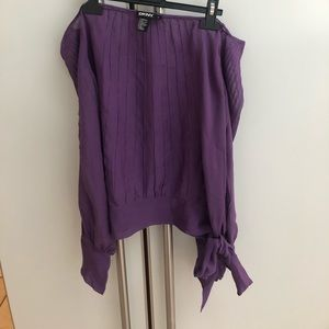 DKNY Off the Shoulder Top Purple Size 12